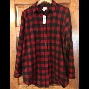 NWT Buffalo Flannel Shirt, L